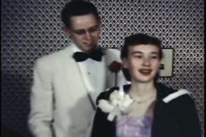 Theresa's parents in high school, ready for the dance