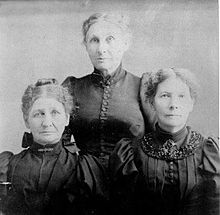 Catherine,  Elizabeth, and Matilda Sager in 1897
