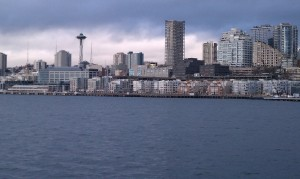 Seattle skyline in gloomy weather