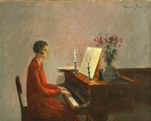 Poul Friis Nybo, Woman Playing the Piano