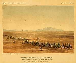 Crossing Great Salt Lake 1859