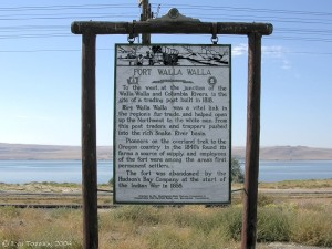 Sign for Fort Walla Walla, photograph by Lyn Topinka