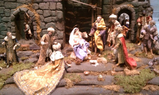 Neapolitan presepio (manger) figures, displayed at Nelson-Atkins Museum of Art, December 2013