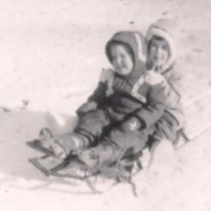 "My brother and me, about a year after the ""hat, coat, boots"" winter"