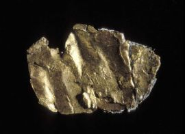 Gold nugget found by James Marshall (now in Smithsonian Institution)