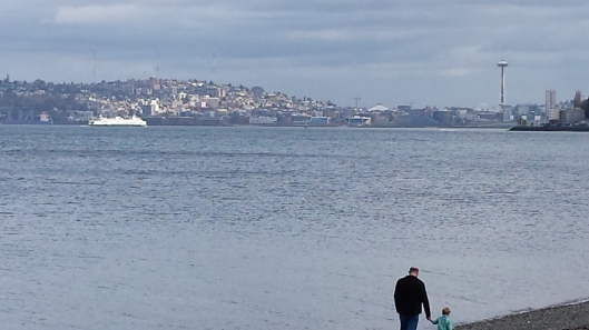 Seattle skyline, from Alki Beach Park