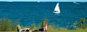 Lake Michigan, from Northwestern University campus