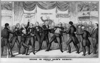 Foote/Benton fight in U.S. Senate. Picture from senate.gov