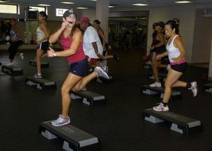 An aerobics class; not mine.