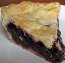 Picture from Mermaids of the Lake; this site has a huckleberry pie recipe also