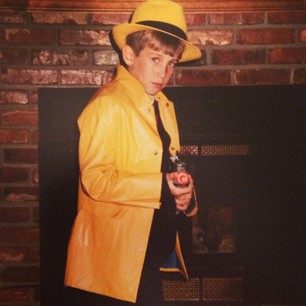 J as Dick Tracy