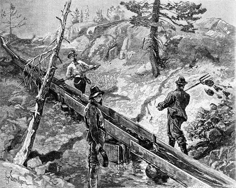 Sluicing And Beyond The Gold Rush Develops From