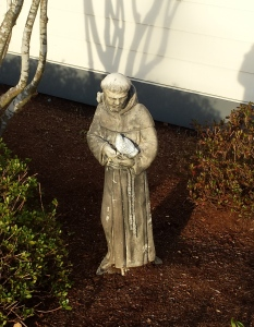 Statue of St. Francis, after he handled my problem