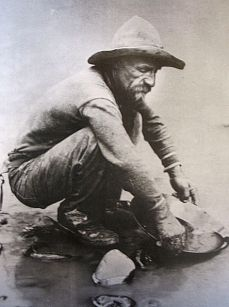 Gold prospector, 1850, photograph from  Wikimedia Commons