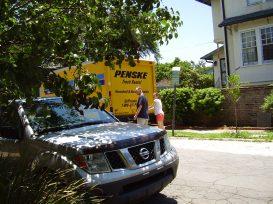 The Penske truck
