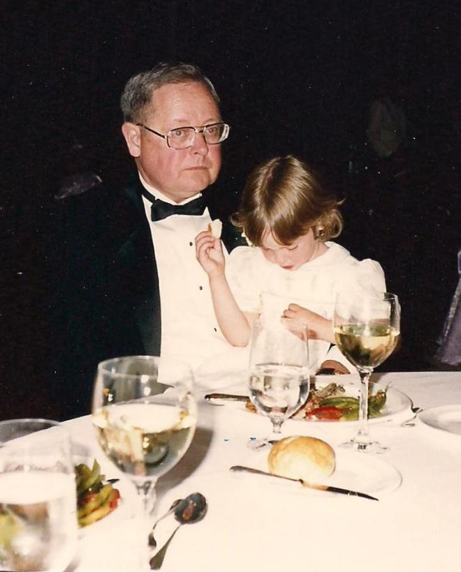 My daughter and her grandfather, after he rescued her