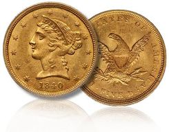 1840-C_T1_5 gold eagle coin