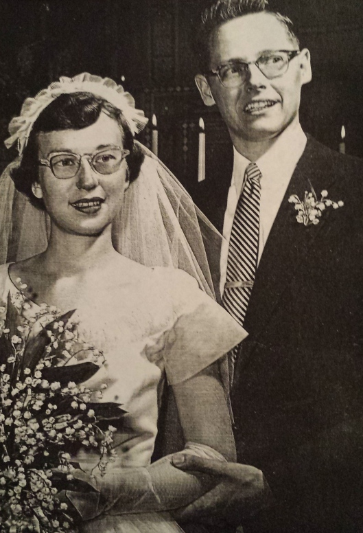 My parents at their wedding, 1955
