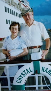 My parents in 2005 on one of the cruises they took