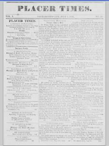Placer Times p 1 7-7-1849