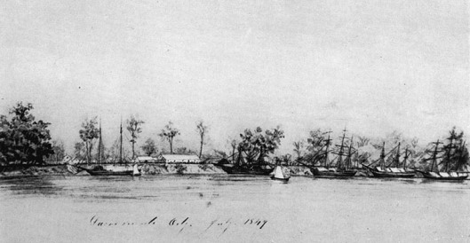 Sacramento Waterfront, July 1849