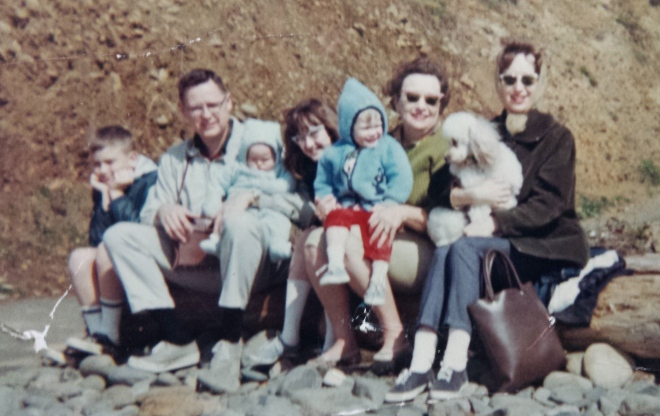 My family at Cannon Beach, 1968
