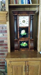 My grandfather's clock now ticks in my home