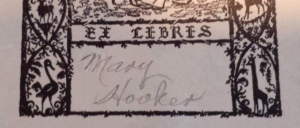 My mother's Ex Libris sticker from her copy of A Wonderful Year