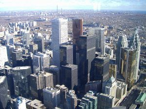 Toronto skyline, from Wikimedia Commons