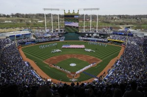 Kauffman Stadium, photo from Wikimedia Commons