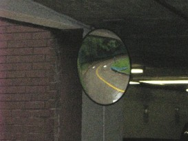 A mirror similar to the ones I bumped into