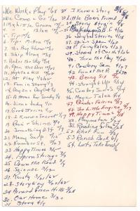 List of the first grade books I read