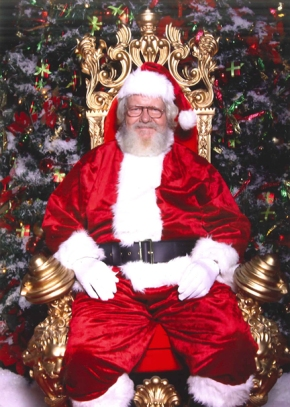 Not my Santa at the mall, but similar