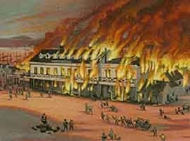 December 1849 - First Great Fire