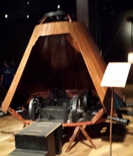 Model of da Vinci's tank