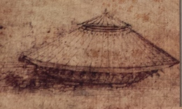 da Vinci's drawing of a tank
