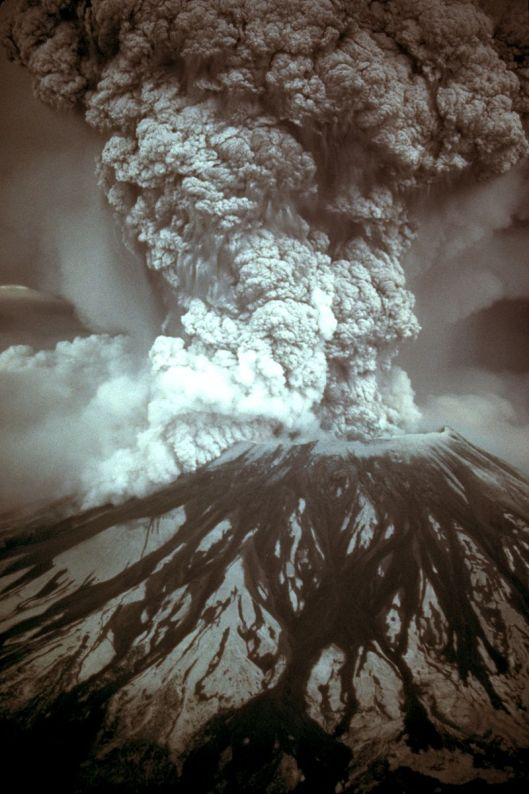Mt. St. Helens eruption on May 18, 1980