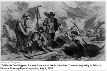 GoldRush miners 1856 print
